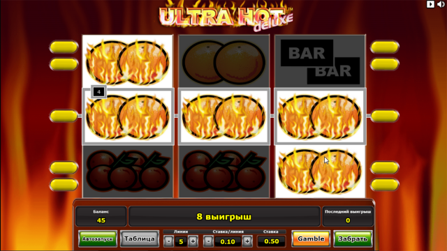 Бонусная игра Ultra Hot Deluxe 8