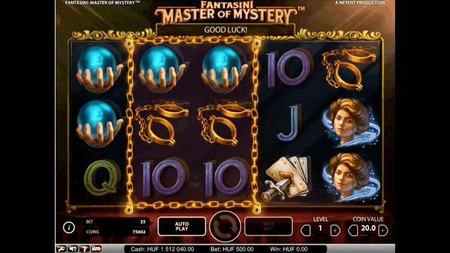 Бонусная игра Fantasini: Master Of Mystery 6
