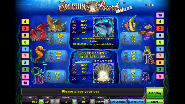 Бонусная игра Dolphin's Pearl Deluxe 9
