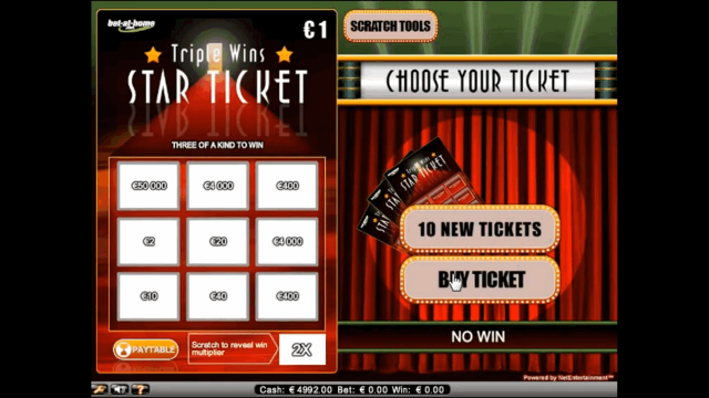 Характеристики слота Triple Wins Star Ticket 8