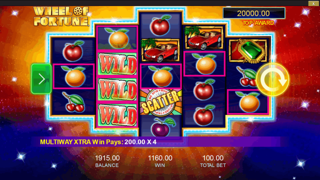 Бонусная игра Wheel Of Fortune: Triple Extreme Spin 3